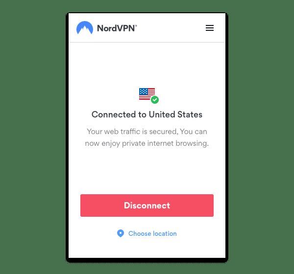 NordVPN Firefox extension