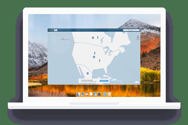 macos screen nordvpn map