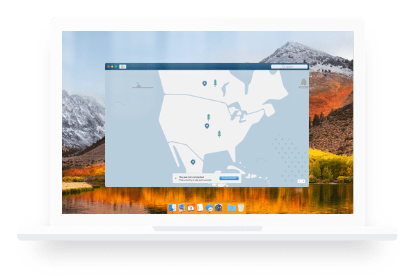 macos screen nordvpn map