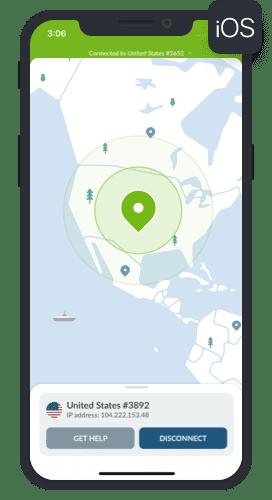 iphone nordvpn map