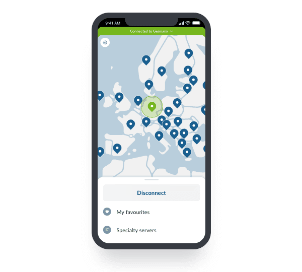 iphone nordvpn map