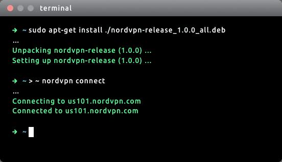NordVPN Linux cli