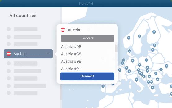 NordVPN Austria Servers