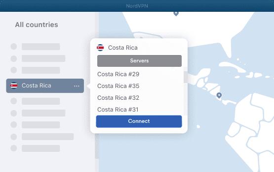 NordVPN Costa Rica Servers