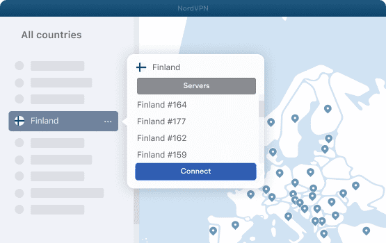 NordVPN Finland Servers