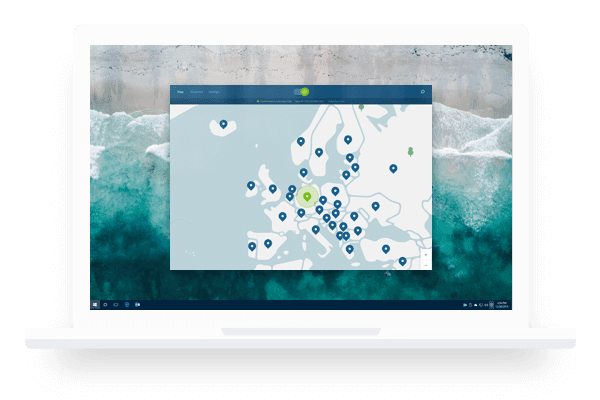 windows screen nordvpn map