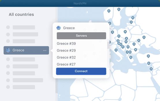 NordVPN Greece Servers