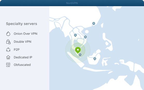 NordVPN specialty servers for Malaysia