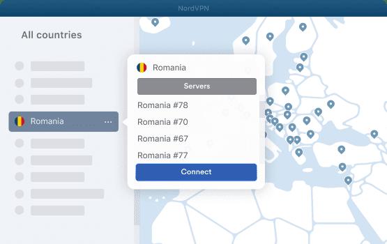 NordVPN Romania Servers