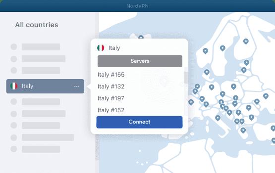 NordVPN Italy Servers